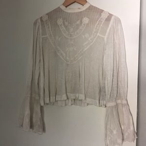 Free People White Blouse!